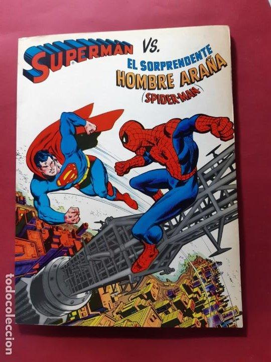 SUPERMAN VS. EL SORPRENDENTE HOMBRE ARAÑA. NOVARO-EXCELENTE ESTADO (Tebeos y Comics - Novaro - Superman)