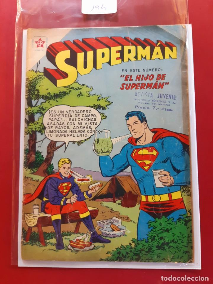 SUPERMAN Nº 194- EL HIJO DE SUPERMAN (Tebeos y Comics - Novaro - Superman)