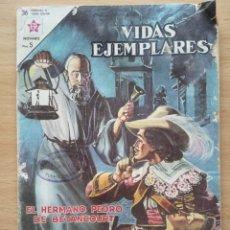 Tebeos: CÓMICS VIDAS EJEMPLARES EL HERMANO PEDRO DE BETANCOURT Nº54 AÑO 1958. Lote 194372405