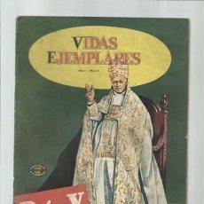 Tebeos: VIDAS EJEMPLARES 6: PIO X, 1954, NOVARO, BUEN ESTADO. Lote 194516716