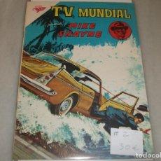 Tebeos: T V MUNDIAL # 2 MIKE SHAYNE NOVARO S E A OCTUBRE 1962 MUY BUEN ESTADO. Lote 194535195