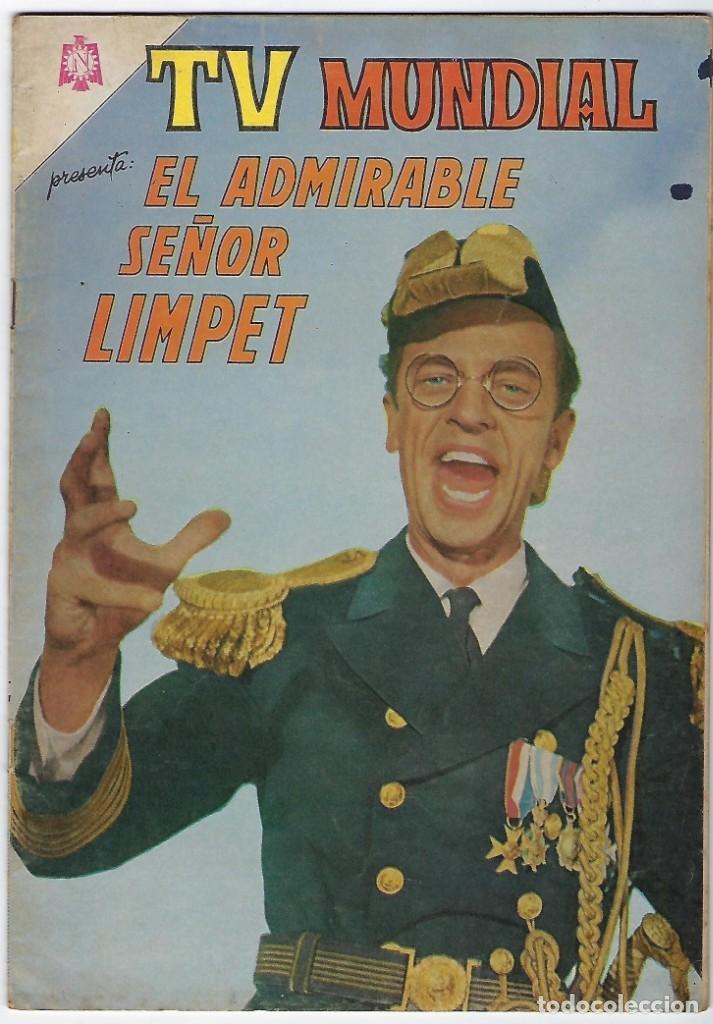 TV MUNDIAL:EL ADMIRABLE SEÑOR LIMPET - AÑO III - Nº 44 - 15 DE ENERO DE 1965 ** NOVARO MÉXICO *** (Tebeos y Comics - Novaro - Otros)
