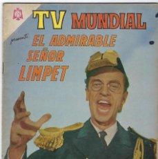 Tebeos: TV MUNDIAL:EL ADMIRABLE SEÑOR LIMPET - AÑO III - Nº 44 - 15 DE ENERO DE 1965 ** NOVARO MÉXICO ***. Lote 194577573