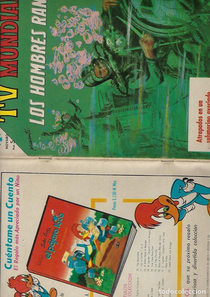 Tebeos: TV MUNDIAL: LOS HOMBRES RANA - AÑO III - Nº 41 - 1º DE DICIEMBRE DE 1964 *** NOVARO MÉXICO *** - Foto 3 - 194577757