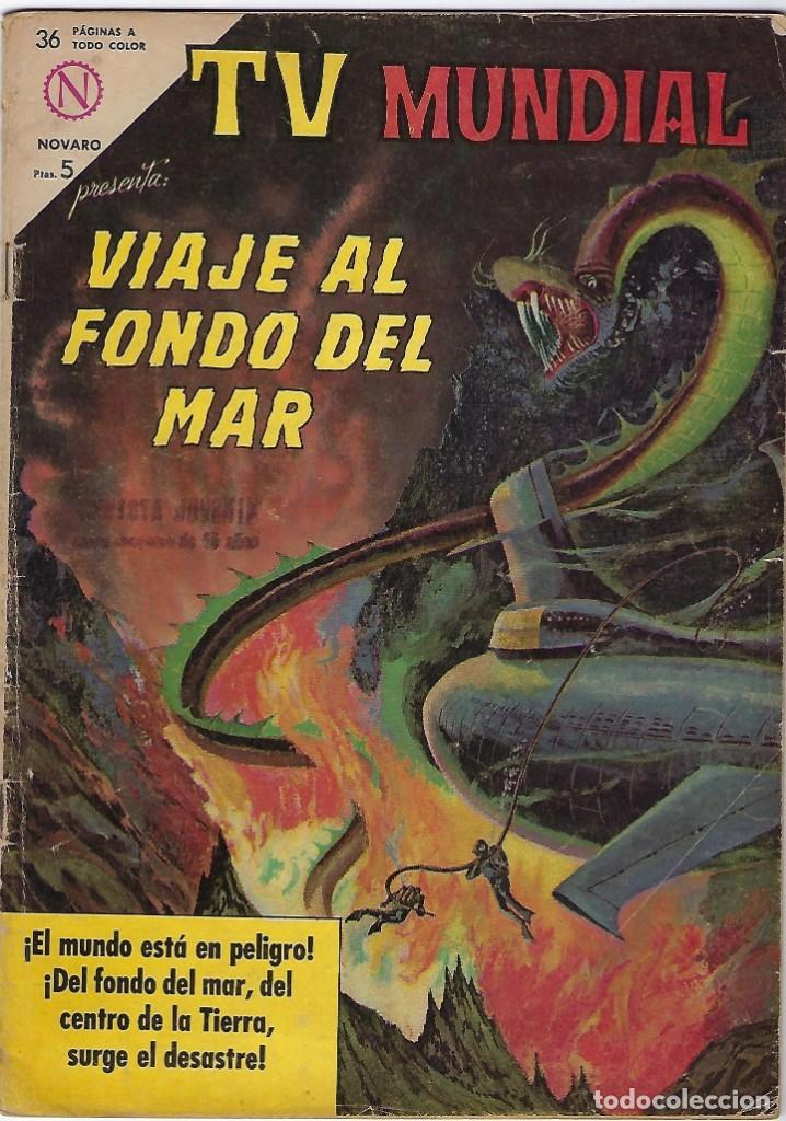 TV MUNDIAL: VIAJE AL FONDO DEL MAR - AÑO II - Nº 22 - 15 DE FEBRERO DE 1964 *** NOVARO MÉXICO *** (Tebeos y Comics - Novaro - Otros)