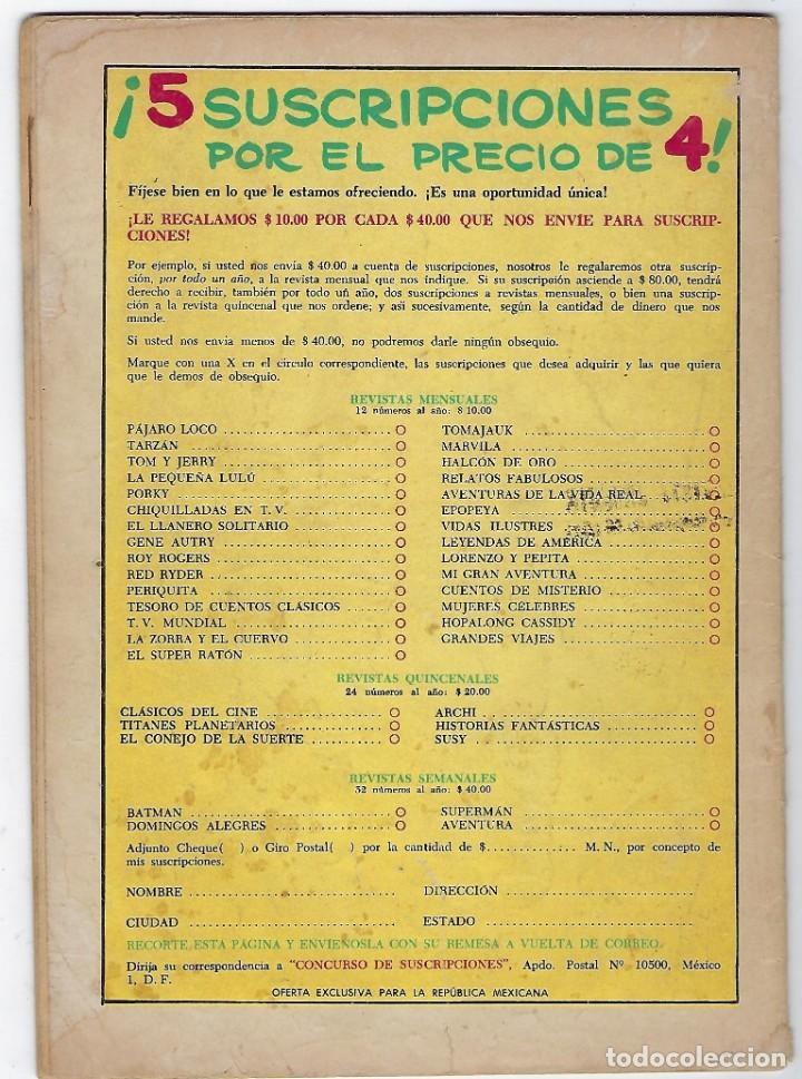 Tebeos: TV MUNDIAL: VIAJE AL FONDO DEL MAR - AÑO II - Nº 22 - 15 DE FEBRERO DE 1964 *** NOVARO MÉXICO *** - Foto 2 - 194578500