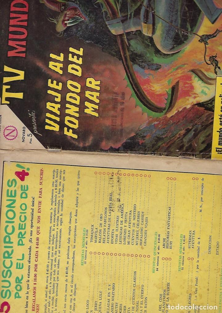 Tebeos: TV MUNDIAL: VIAJE AL FONDO DEL MAR - AÑO II - Nº 22 - 15 DE FEBRERO DE 1964 *** NOVARO MÉXICO *** - Foto 3 - 194578500