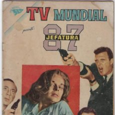 Tebeos: TV MUNDIAL: JEFATURA 87 - AÑO I - Nº 6 - 1º DE FEBRERO DE 1963 *** NOVARO MÉXICO ***. Lote 194578883