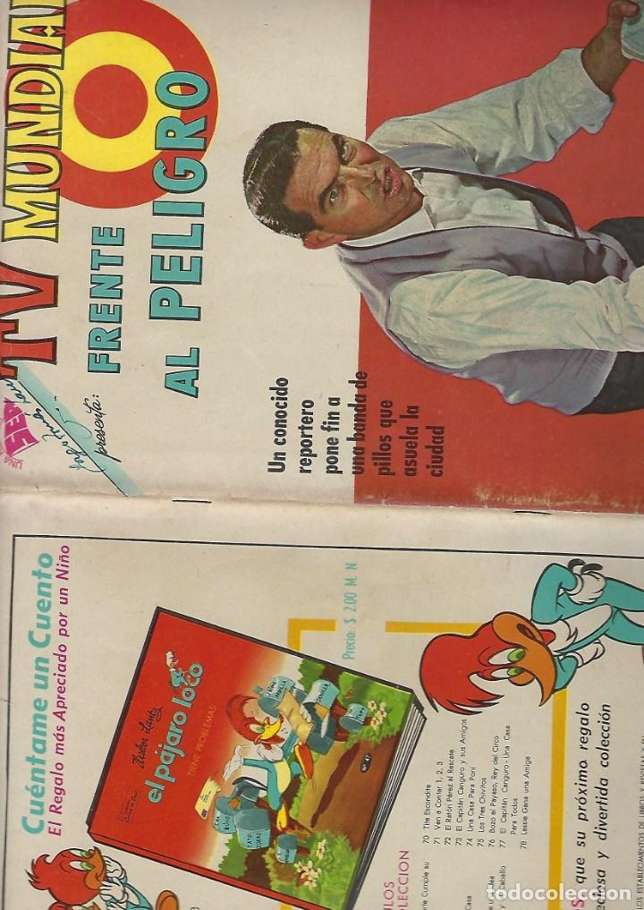Tebeos: TV MUNDIAL: FRENTE AL PELIGRO - AÑO I - Nº 5 - 1º DE ENERO DE 1963 *** NOVARO MÉXICO *** - Foto 3 - 194579072
