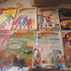 Tebeos: SUPERMAN -NOVARO -LOTE DE 8 -REGULAR ESTADO. Lote 194597813