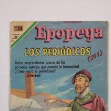 Tebeos: EPOPEYA N° 142 - LOS PERIÓDICOS N° 1 - ORIGINAL EDITORIAL NOVARO. TDKC47. Lote 194614877
