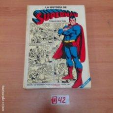 Tebeos: LA HISTORIA DE SUPERMAN, TAPA DURA, EDITORIAL NOVARO. Lote 194636643
