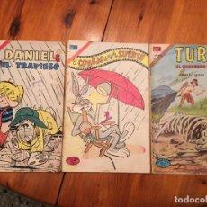 BDs: COMIC EL CONEJO DE LA SURTE, TUROK, Y DANIEL ELTRAVIESO, LOTE 3. Lote 194878966