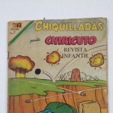 Tebeos: CHIQUILLADAS Nº 278 - CHIRICUTO - AÑO 1970 - EDITORIAL NOVARO. TDKC49. Lote 195104230