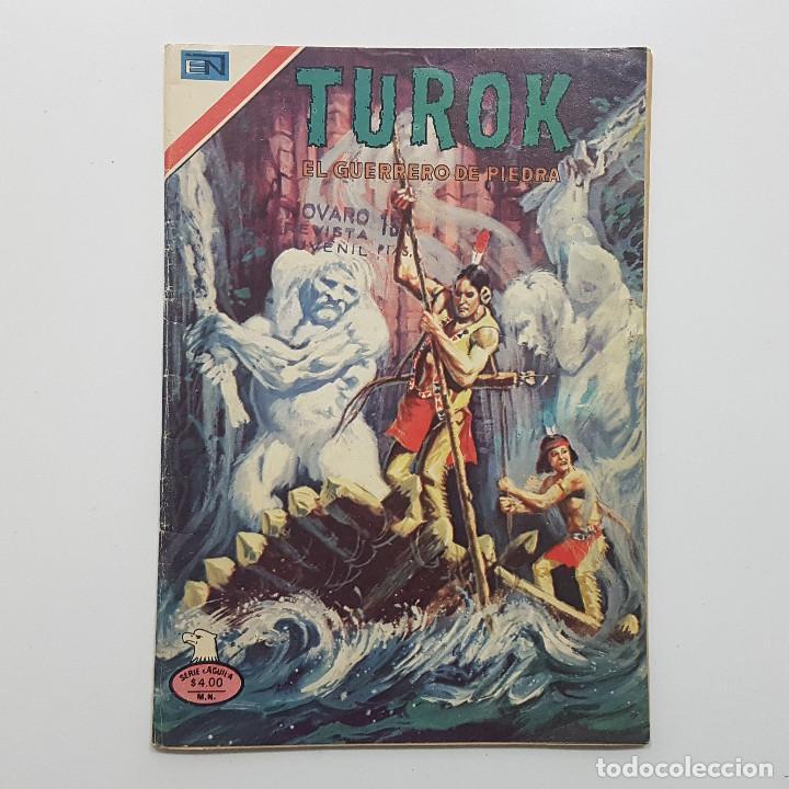 TUROK EL GUERRERO DE PIEDRA Nº 138 1977. SERIE AGUILA. LOS PROTEGIDOS DEL GRAN MANITÚ. NOVARO (Tebeos y Comics - Novaro - Otros)