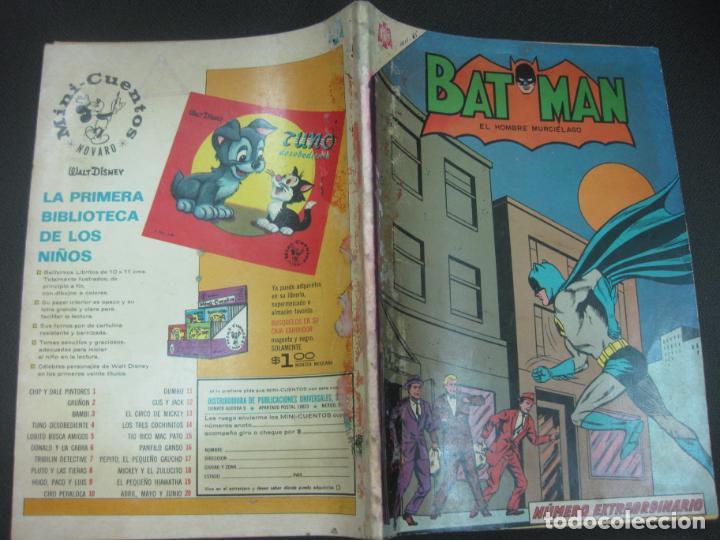 BATMAN NUMERO EXTRAORDINARIO 1 DE AGOSTO DE 1965. NOVARO. MUY DIFICIL. (Tebeos y Comics - Novaro - Batman)