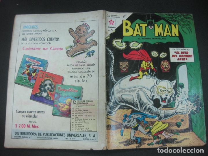 BATMAN Nº 185. 26 SEPTIEMBRE 1963 NOVARO. (Tebeos y Comics - Novaro - Batman)
