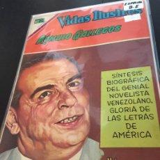 Tebeos: NOVARO VIDAS ILUSTRES ESPECIAL ROMULO GALLEGOS BUEN ESTADO. Lote 195804216