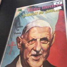 Tebeos: NOVARO VIDAS ILUSTRES ESPECIAL CHARLES DE GAULLE BUEN ESTADO. Lote 195804272