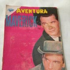 Tebeos: AVENTURA-MAVERICK - NUM.183- 1961 - LOMO ENCOLADO. Lote 196959590