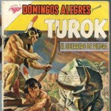 Tebeos: DOMINGOS ALEGRES Nº 396 - TUROK EL GUERRERO DE PIEDRA - OCTUBRE 1961 - NOVARO SEA - UNICO TC. Lote 197169952