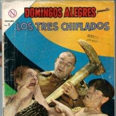 Tebeos: DOMINGOS ALEGRES Nº 530 - LOS TRES CHIFLADOS - MAYO 1964 - NOVARO SEA - UNICO EN TC. Lote 197174663
