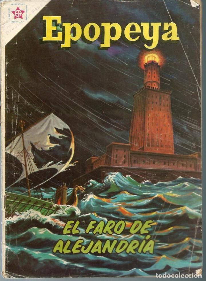 EPOPEYA Nº 35 - EL FARO DE ALEJANDRIA - ABRIL 1961 - NOVARO SEA - DIFICIL (Tebeos y Comics - Novaro - Epopeya)