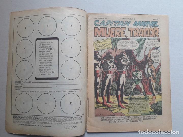 Tebeos: Capitán Marvel n° 10 - original editorial La Prensa (México) - Foto 2 - 197175950