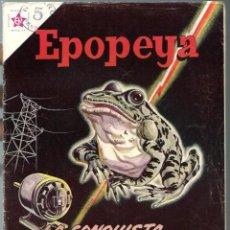 Tebeos: EPOPEYA Nº 62 - LA CONQUISTA DE LA ELECTRICIDAD - JULIO 1963 - NOVARO SEA - DIFICIL - A BUEN PRECIO. Lote 197177261