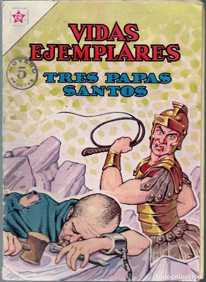 VIDAS EJEMPLARES Nº 152 - TRES PAPAS SANTOS - JULIO 1963 - NOVARO SEA - DIFICIL - A BUEN PRECIO (Tebeos y Comics - Novaro - Vidas ejemplares)