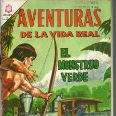 Tebeos: AVENTURAS DE LA VIDA REAL Nº 112 - EL MONSTRUO VERDE - ABRIL 1965 - NOVARO EDICIONES RECREATIVAS. Lote 197186158