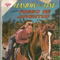 Tebeos: CLASICOS DEL CINE Nº 68 - FUEGO DE JUVENTUD - JUNIO 1962 - NOVARO SEA. Lote 197187391