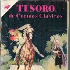 Tebeos: TESORO DE CUENTOS CLASICOS Nº 37 - EL TRONO USURPADO - SEPTIEMBRE 1960 - NOVARO SEA - UNICO EN TC. Lote 197193666
