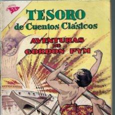 Tebeos: TESORO DE CUENTOS CLASICOS Nº 72 - AVENTURAS DE GORDON PYM -AGOSTO 1963 - NOVARO SEA - UNICO EN TC. Lote 197194063