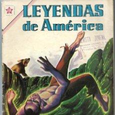Tebeos: LEYENDAS DE AMERICA Nº 75 - LA CUEVA DE LOS DESAPARECIDOS - MAYO 1962 - NOVARO SEA - UNICO EN TC. Lote 197196923