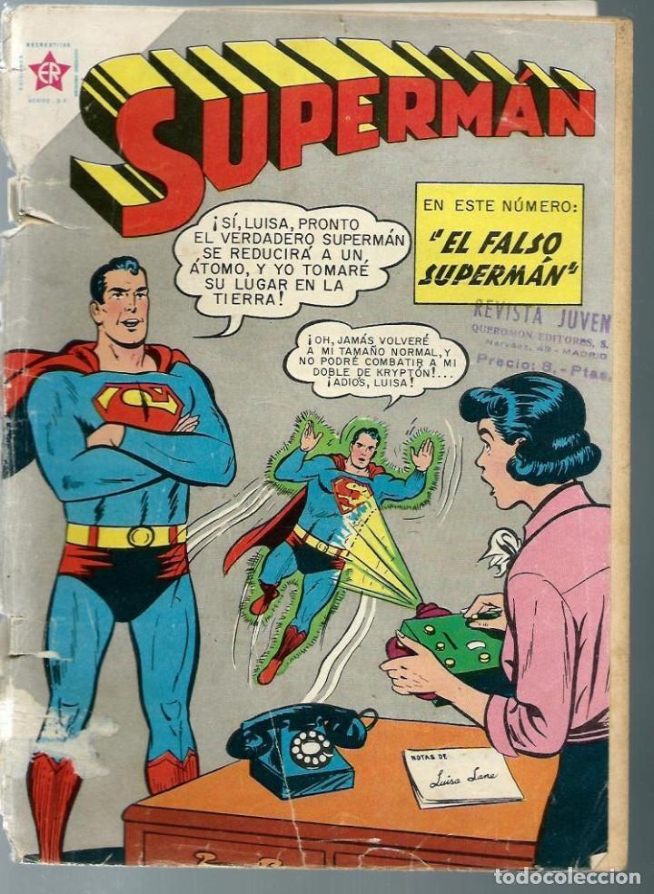 SUPERMAN Nº 215 - EL FALSO SUPERMAN - DICIEMBRE 1959 - NOVARO SEA - - DIFICIL - VER DESCRIPCION (Tebeos y Comics - Novaro - Superman)