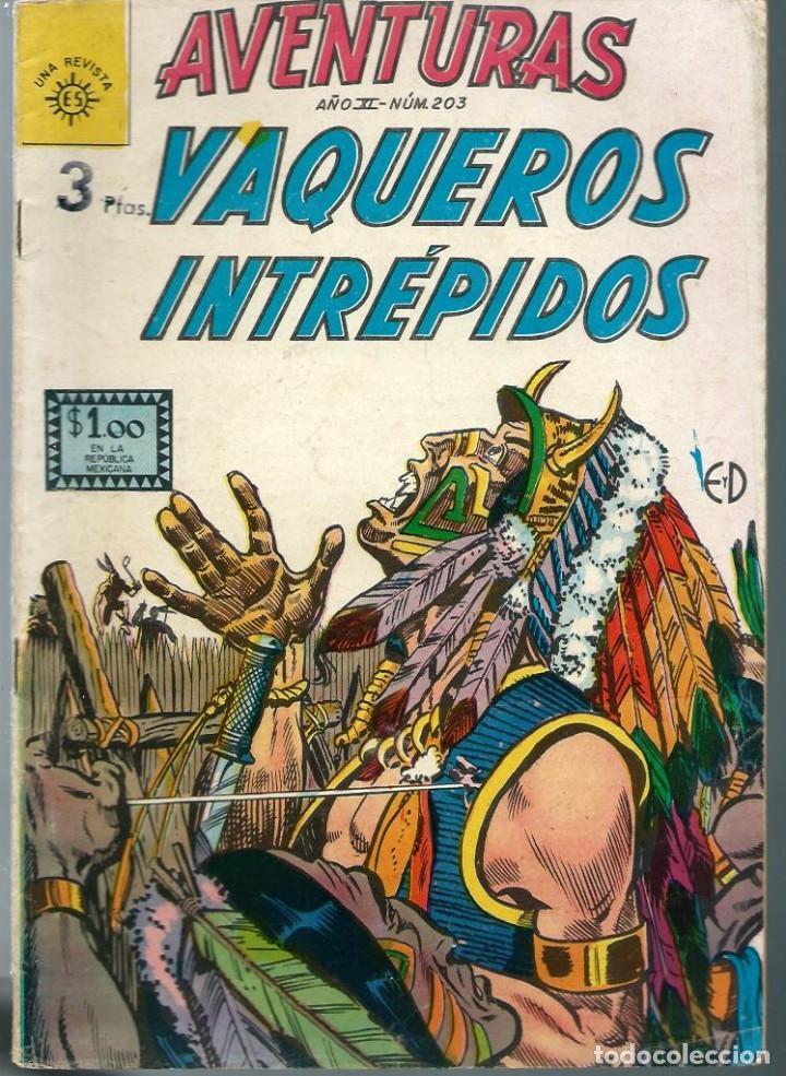 AVENTURAS Nº 203 - VAQUEROS INTREPIDOS, UNA REVISTA DE EDITORA SOL - SEPTIEMBRE 1962 MEXICO - NOVARO (Tebeos y Comics - Novaro - Otros)