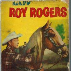 Tebeos: ALBUM ROY ROGERS - QUEROMON EDITORES 1956 - RETAPADO ED. CON LOS Nº 28 33 37 45 Y 48 Y SUS CUBIERTAS. Lote 197225191