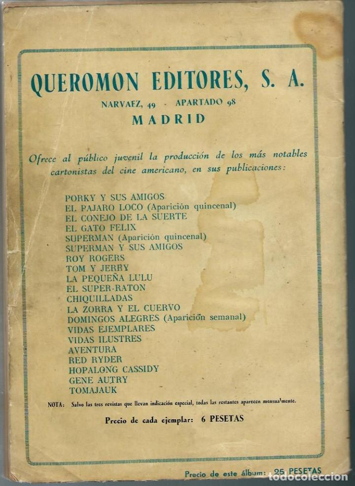 Tebeos: ALBUM ROY ROGERS - QUEROMON EDITORES 1956 - RETAPADO ED. CON LOS Nº 28 33 37 45 Y 48 Y SUS CUBIERTAS - Foto 2 - 197225191