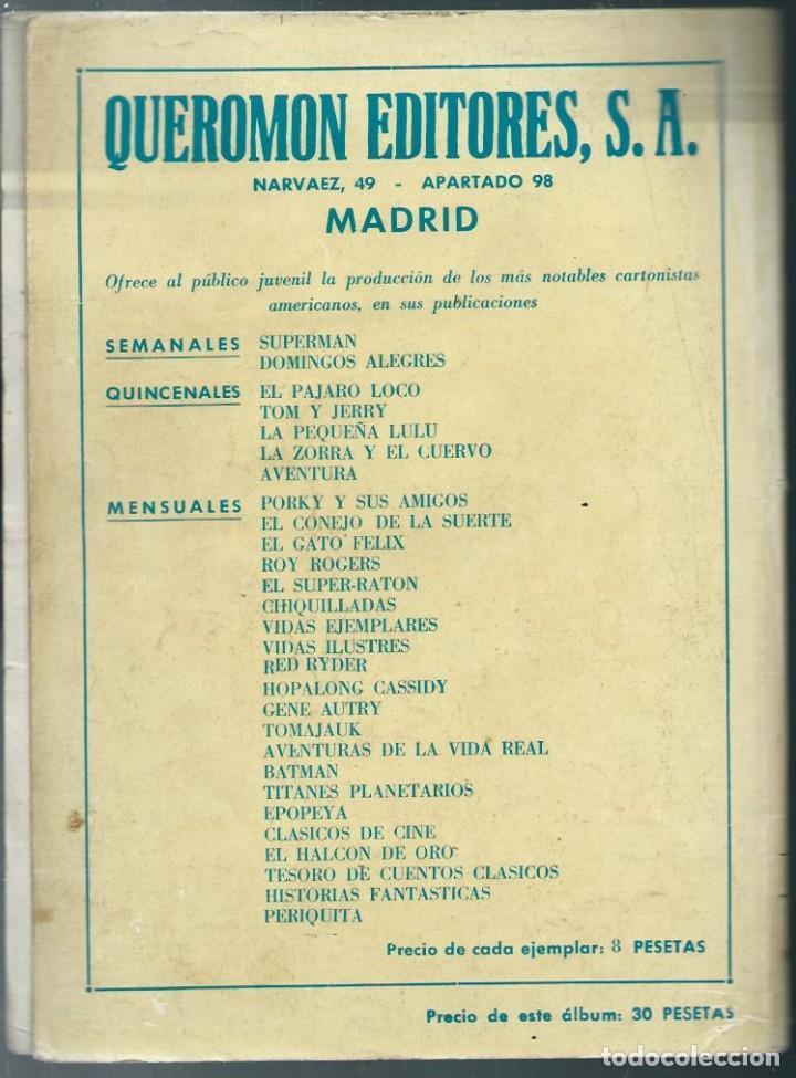 Tebeos: ALBUM DE EL HALCON DE ORO - TAPAS DE LA COLECCION DE ALBUMES INFANTILES QUEROMON Nº 74 - SOLO TAPAS - Foto 2 - 197242541