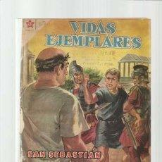 BDs: VIDAS EJEMPLARES 60: SAN SEBASTIÁN, SOLDADO Y MÁRTIR, 1959, NOVARO, ENCUADERNACIÓN. Lote 197949478