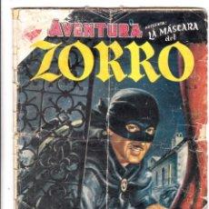 Tebeos: AVENTURA Nº 9, CON LA MÁSCARA DEL ZORRO, EDITORIAL NOVARO. Lote 198110116