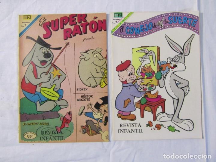 Tebeos: 12 tebeos Novaro, pajaro loco, Fix y Fox, Super Ratón, Conejo de la suerte, .... - Foto 7 - 198243743