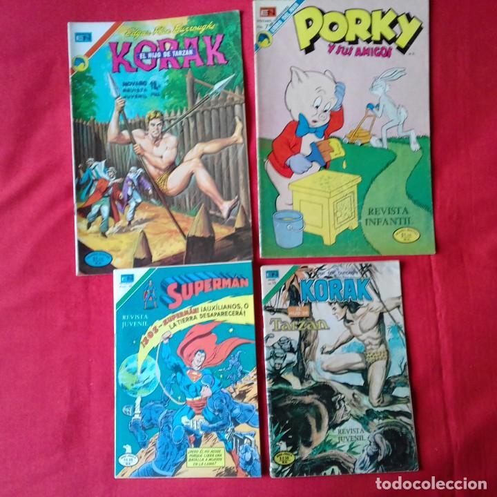 Tebeos: LOTAZO 23 COMIC NOVARO: KORAK, SUPERMAN, PORKY, TARZAN, BATMAN, DAN DARE, ROBOHUNTER - Foto 4 - 198358987