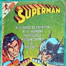 Tebeos: SUPERMAN 3-62 SUPERMAN Y BATMAN TORNADO ROJO AVESTRUZ NOVARO 1980 CON DETALLES. Lote 198506088