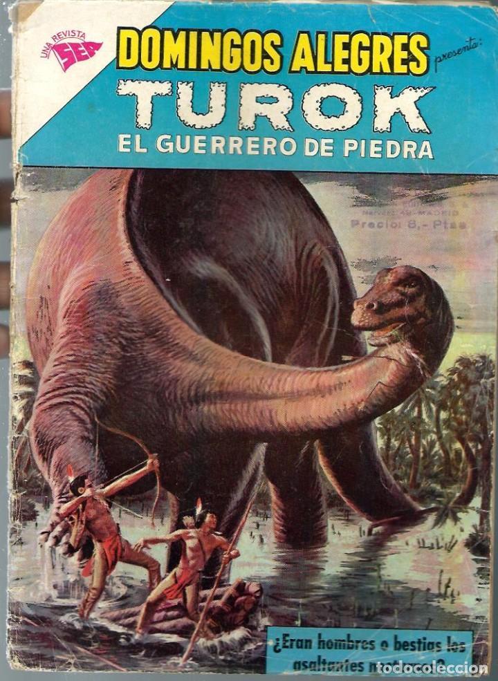 DOMINGOS ALEGRES Nº 406 - TUROK EL GUERRERO DE PIEDRA - ENERO 1962 - NOVARO SEA - CORRECTO, UNICO TC (Tebeos y Comics - Novaro - Domingos Alegres)