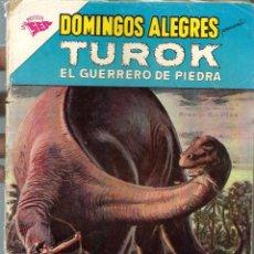 Tebeos: DOMINGOS ALEGRES Nº 406 - TUROK EL GUERRERO DE PIEDRA - ENERO 1962 - NOVARO SEA - CORRECTO, UNICO TC. Lote 198522558