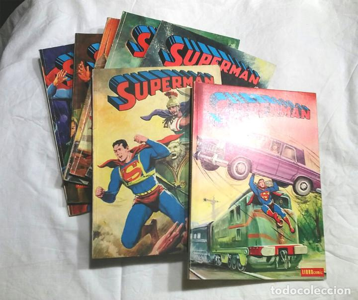LOTE 7 TOMOS SUPERMAN N° 19, 24, 26, 27, 49, 50 Y 51 AÑO 1976 (Tebeos y Comics - Novaro - Superman)