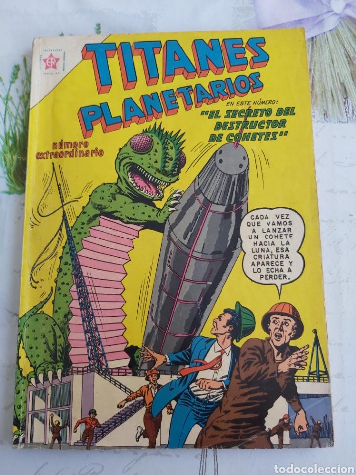 TITANES PLANETARIOS EXTRAORDINARIO NOVIEMBRE 1961 (Tebeos y Comics - Novaro - Sci-Fi)