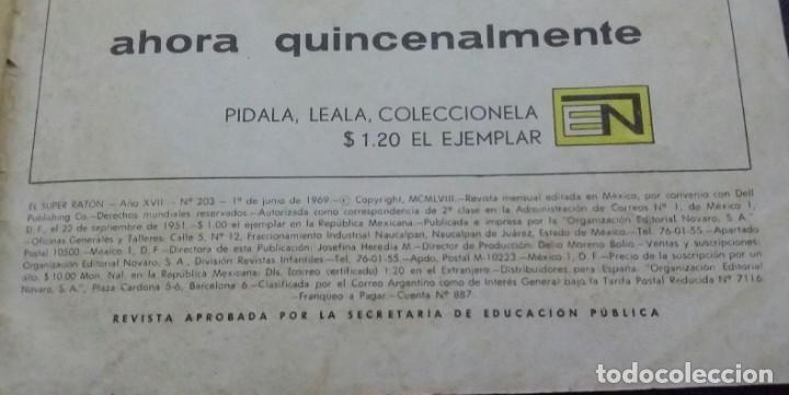 Tebeos: CÓMIC 1969 EL SUPER RATÓN Y LAS URRACAS PARLANCHINAS. FESTIVAL D MUNDO D LA HISTORIETA. TEBEO NOVARO - Foto 3 - 199728455